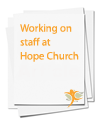 Working on staff at Hope Church
